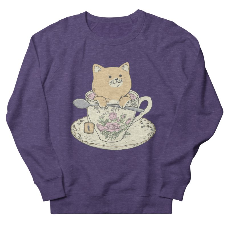 Tea Cat Time Men's French Terry Sweatshirt by Pepe Rodríguez