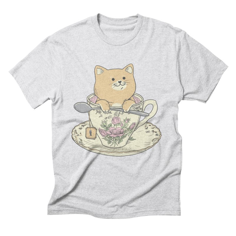 Tea Cat Time Men's Triblend T-Shirt by Pepe Rodríguez