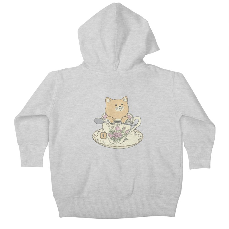 Tea Cat Time Kids Baby Zip-Up Hoody by Pepe Rodríguez
