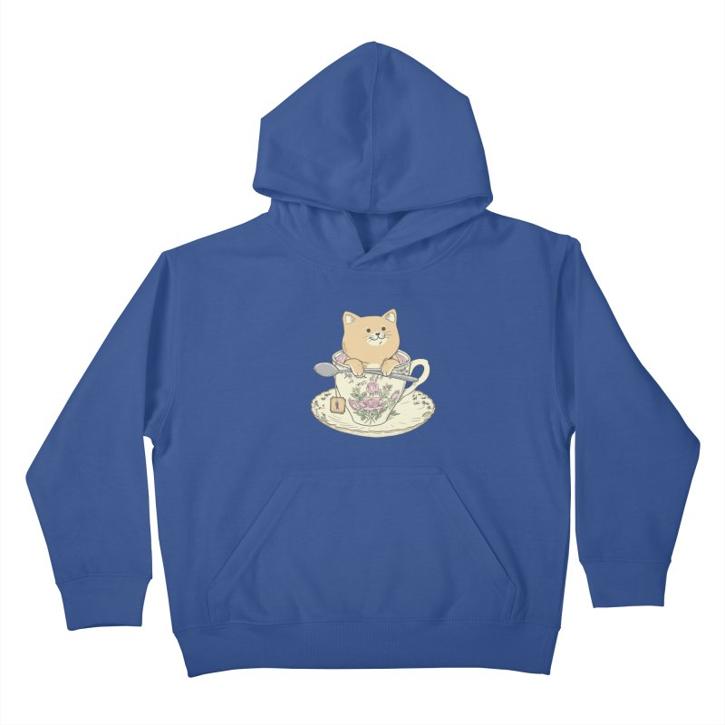 Tea Cat Time Kids Pullover Hoody by Pepe Rodríguez