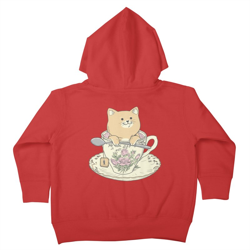 Tea Cat Time Kids Toddler Zip-Up Hoody by Pepe Rodríguez