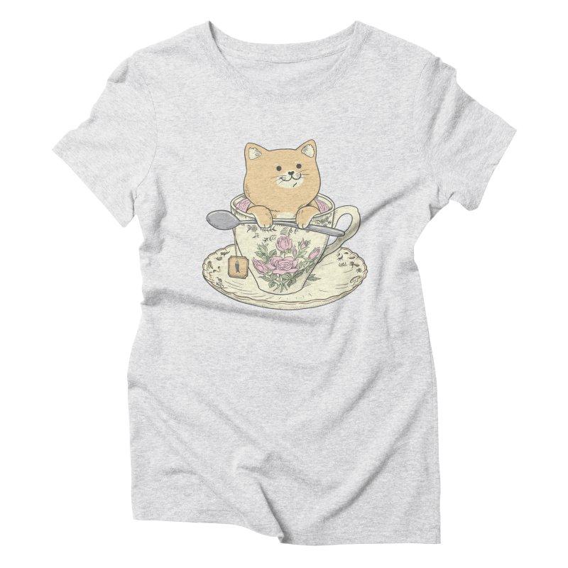 Tea Cat Time Women's Triblend T-Shirt by Pepe Rodríguez