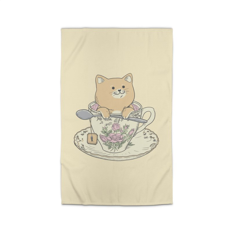 Tea Cat Time Home Rug by Pepe Rodríguez