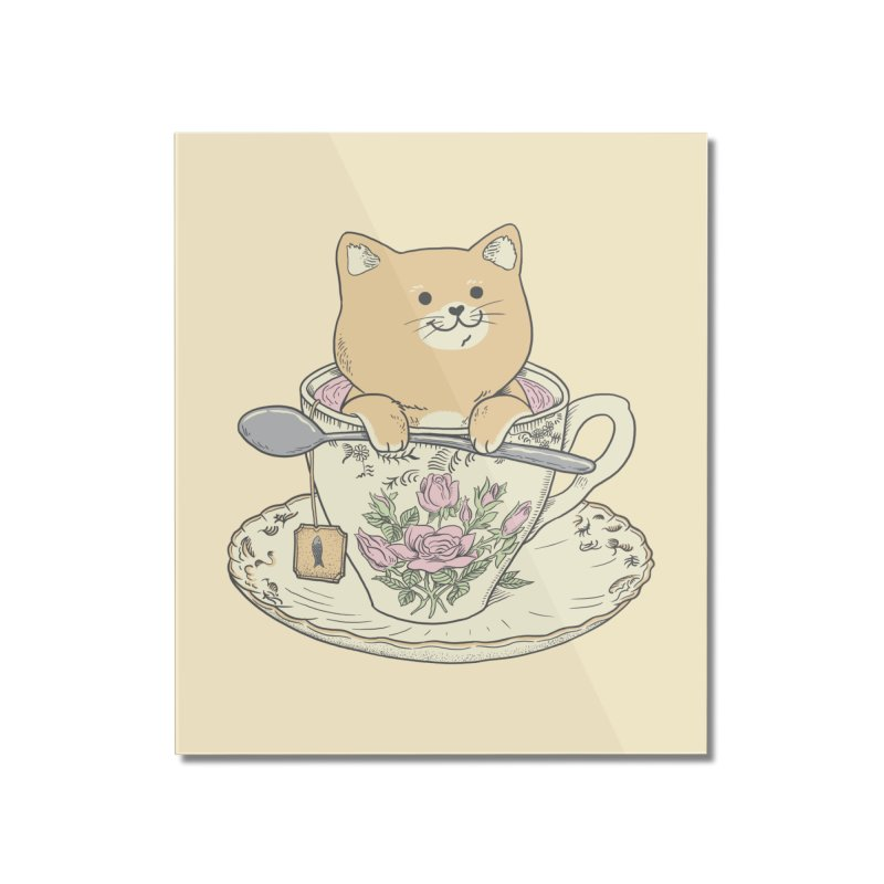 Tea Cat Time Home Mounted Acrylic Print by Pepe Rodríguez