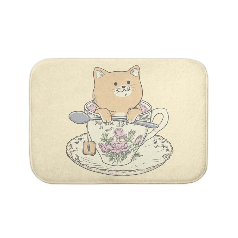 Tea Cat Time Home Bath Mat by Pepe Rodríguez