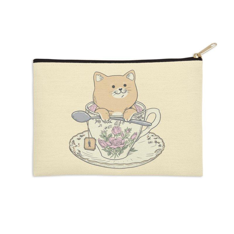 Tea Cat Time Accessories Zip Pouch by Pepe Rodríguez