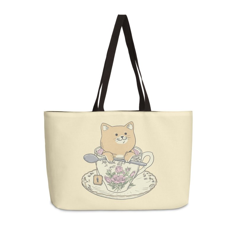 Tea Cat Time Accessories Weekender Bag Bag by Pepe Rodríguez