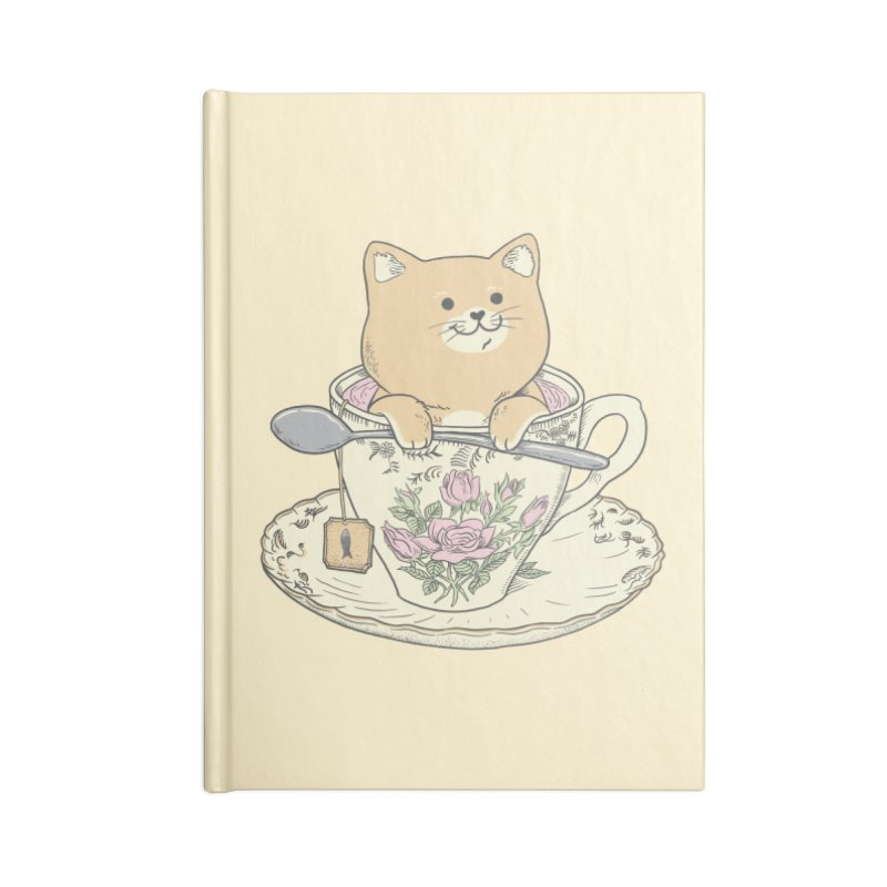 Tea Cat Time Accessories Blank Journal Notebook by Pepe Rodríguez
