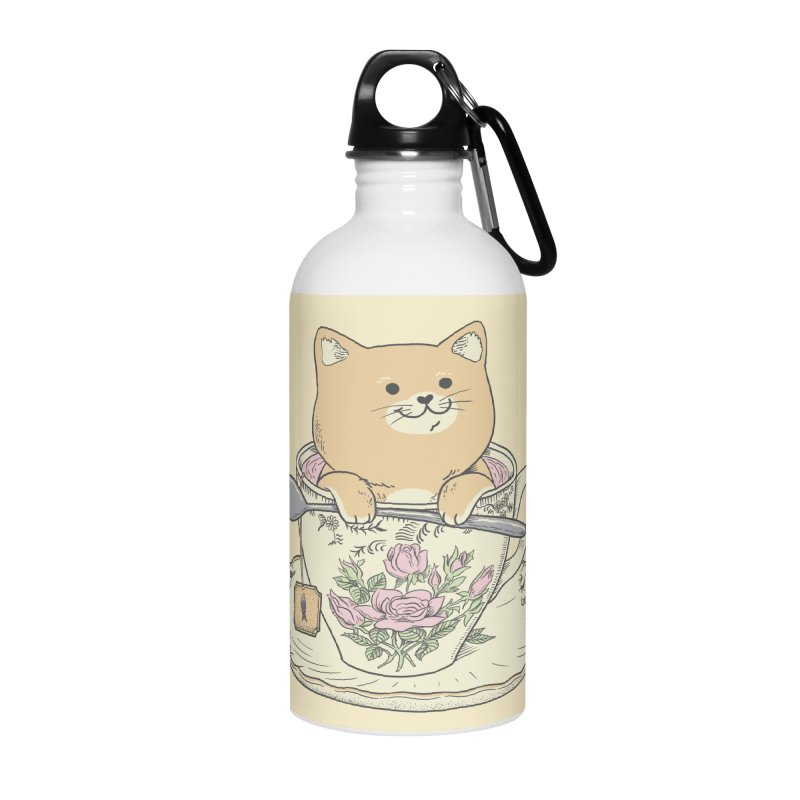 Tea Cat Time Accessories Water Bottle by Pepe Rodríguez