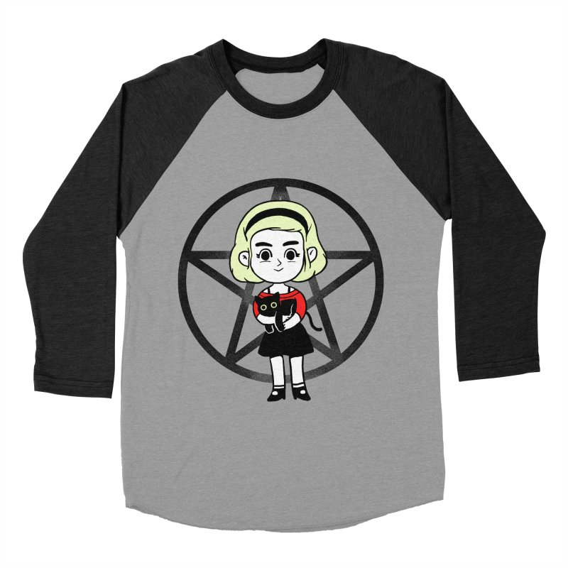 Sabrina and Salem Men's Baseball Triblend Longsleeve T-Shirt by Pepe Rodríguez