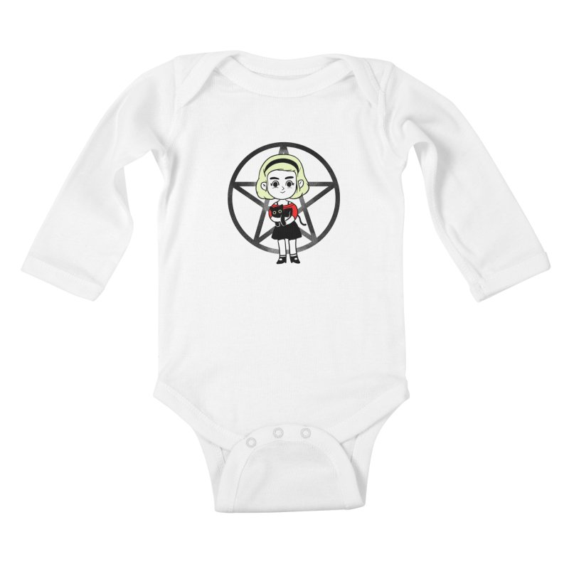 Sabrina and Salem Kids Baby Longsleeve Bodysuit by Pepe Rodríguez