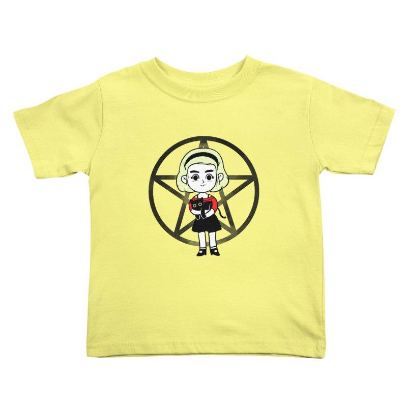 Sabrina and Salem Kids Toddler T-Shirt by Pepe Rodríguez