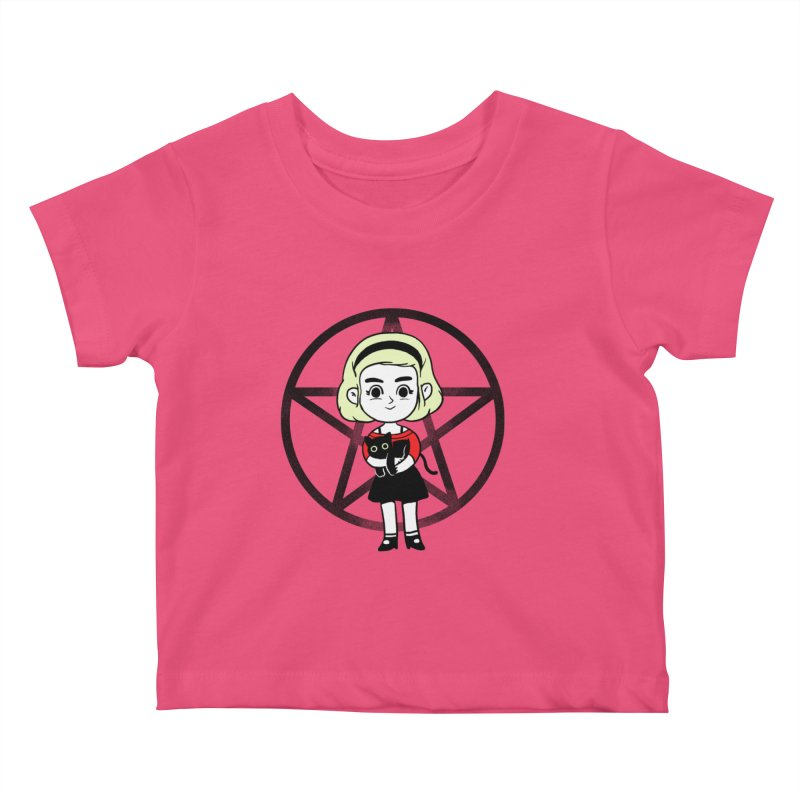 Sabrina and Salem Kids Baby T-Shirt by Pepe Rodríguez