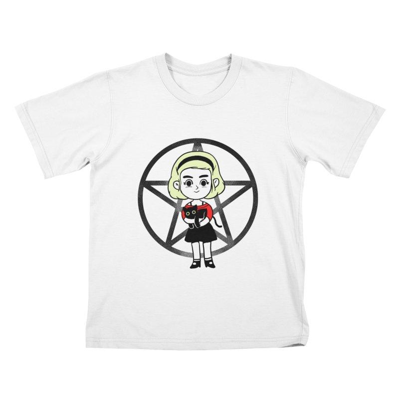 Sabrina and Salem Kids T-Shirt by Pepe Rodríguez