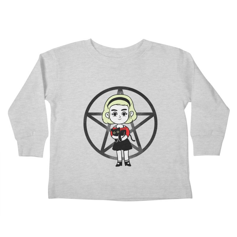 Sabrina and Salem Kids Toddler Longsleeve T-Shirt by Pepe Rodríguez