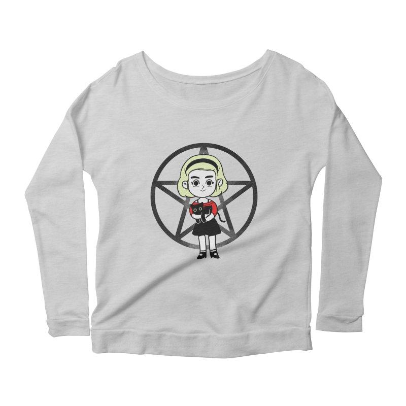 Sabrina and Salem Women's Scoop Neck Longsleeve T-Shirt by Pepe Rodríguez