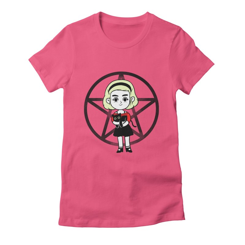 Sabrina and Salem Women's Fitted T-Shirt by Pepe Rodríguez