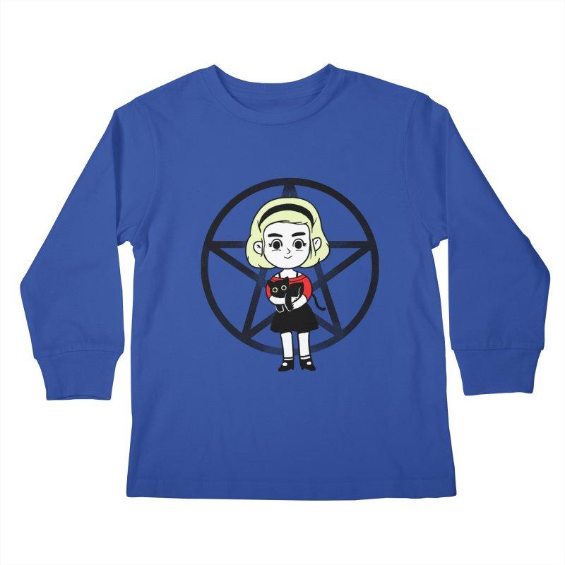 Sabrina and Salem Kids Longsleeve T-Shirt by Pepe Rodríguez