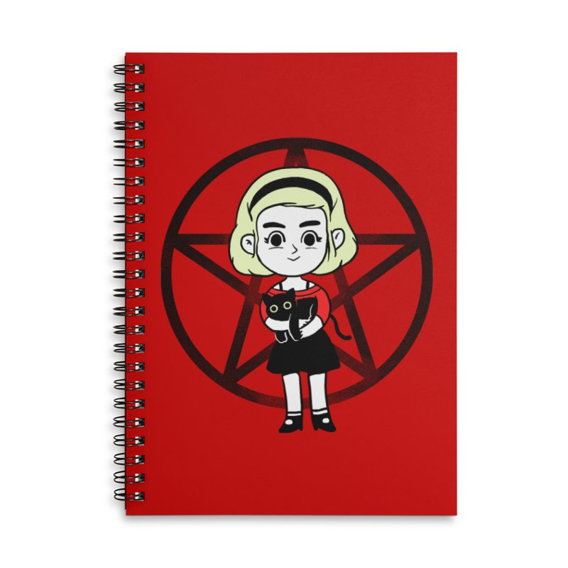 Sabrina and Salem Accessories Lined Spiral Notebook by Pepe Rodríguez