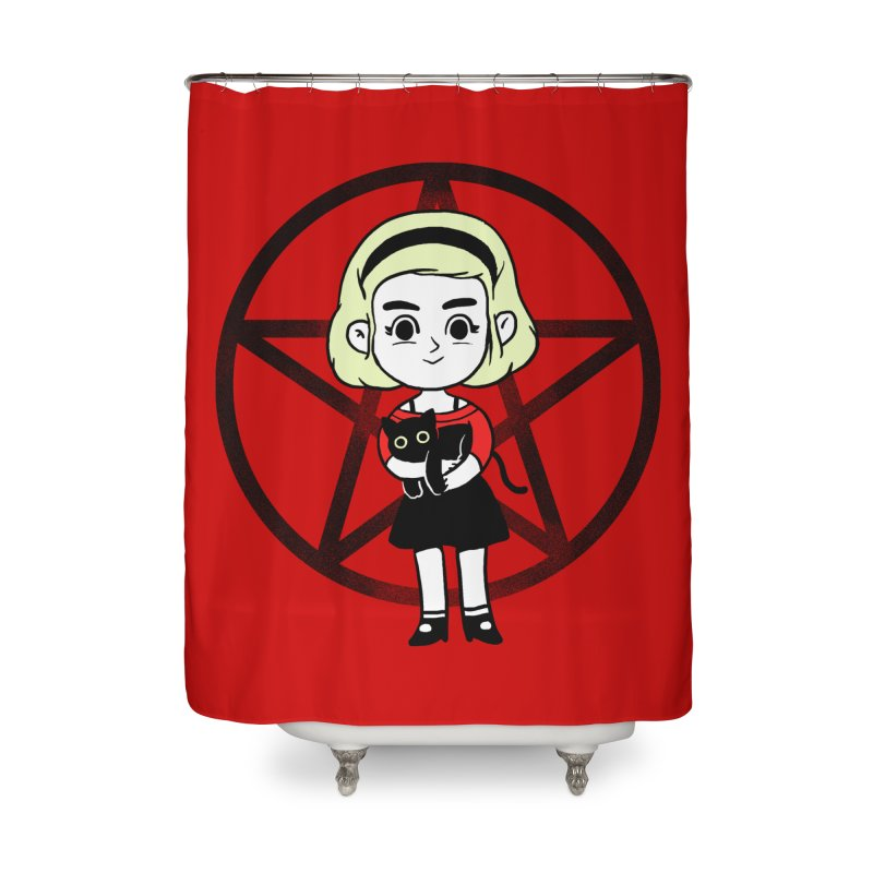 Sabrina and Salem Home Shower Curtain by Pepe Rodríguez
