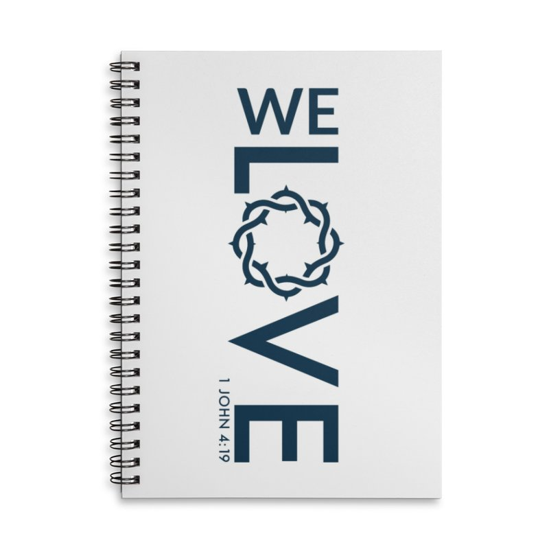 We Love Accessories Lined Spiral Notebook by Justin Whitcomb's Artist Shop