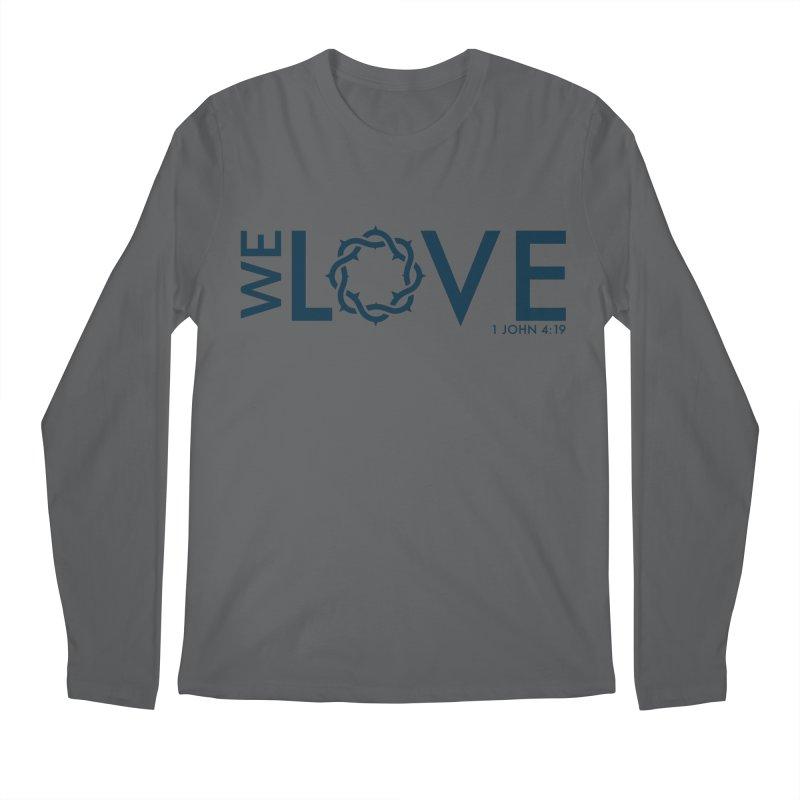 We Love Men's Regular Longsleeve T-Shirt by Justin Whitcomb's Artist Shop