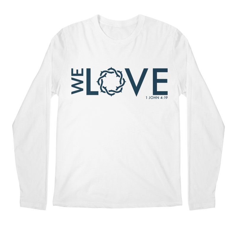 We Love Men's Regular Longsleeve T-Shirt by Justin Whitcomb's Artist Shop