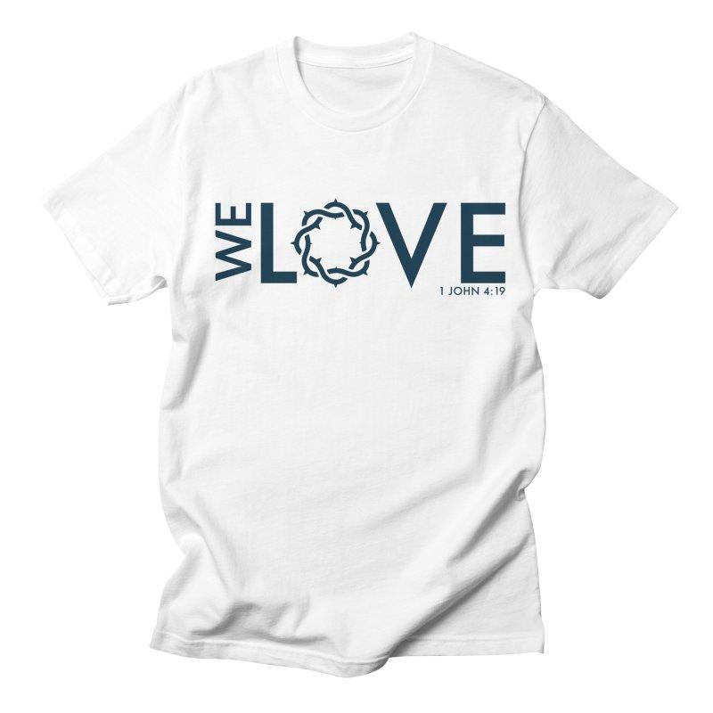 We Love Men's Regular T-Shirt by Justin Whitcomb's Artist Shop