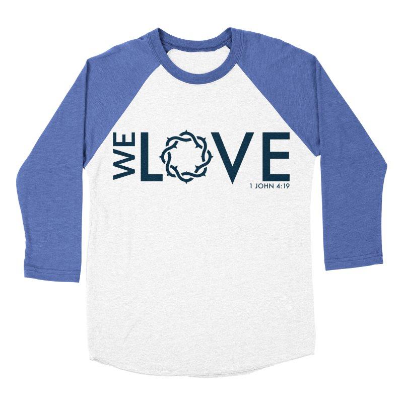 We Love Women's Baseball Triblend Longsleeve T-Shirt by Justin Whitcomb's Artist Shop