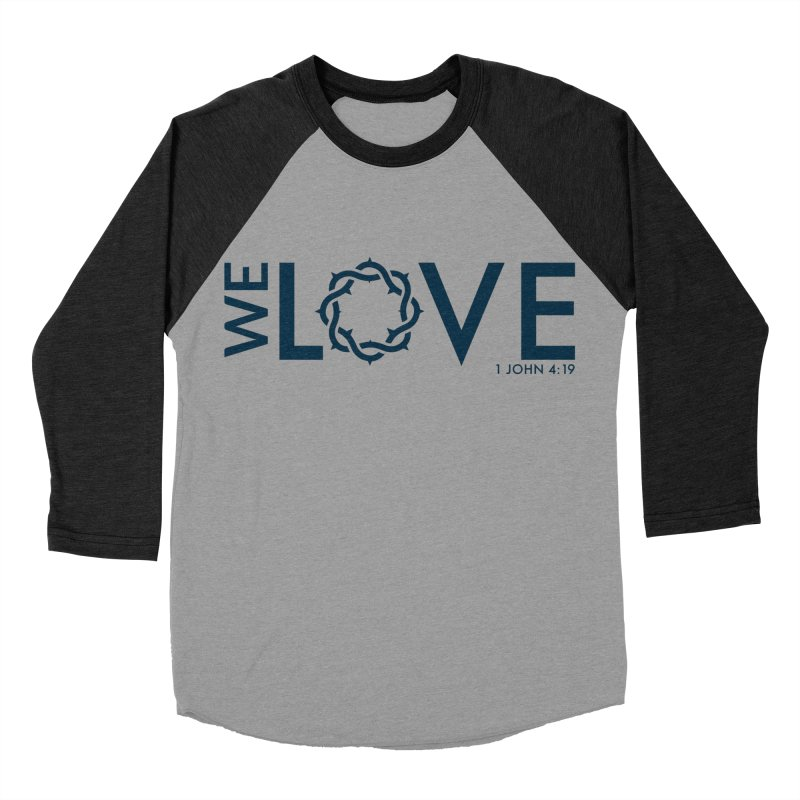 We Love Men's Baseball Triblend Longsleeve T-Shirt by Justin Whitcomb's Artist Shop