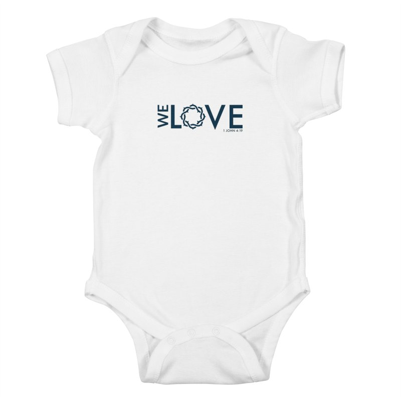 We Love Kids Baby Bodysuit by Justin Whitcomb's Artist Shop