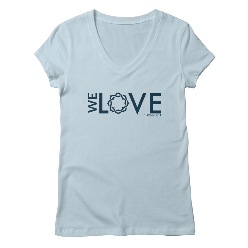 We Love Women's Regular V-Neck by Justin Whitcomb's Artist Shop
