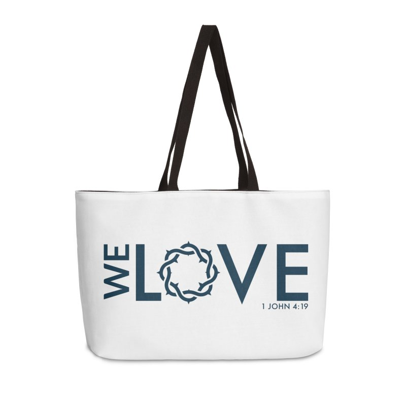 We Love Accessories Weekender Bag Bag by Justin Whitcomb's Artist Shop