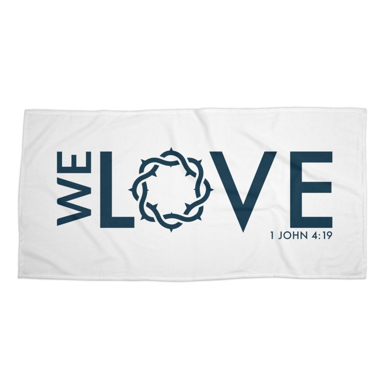 We Love Accessories Beach Towel by Justin Whitcomb's Artist Shop