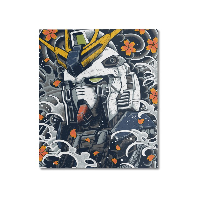 Nu GUndam Home Mounted Aluminum Print by prajoedi's Artist Shop