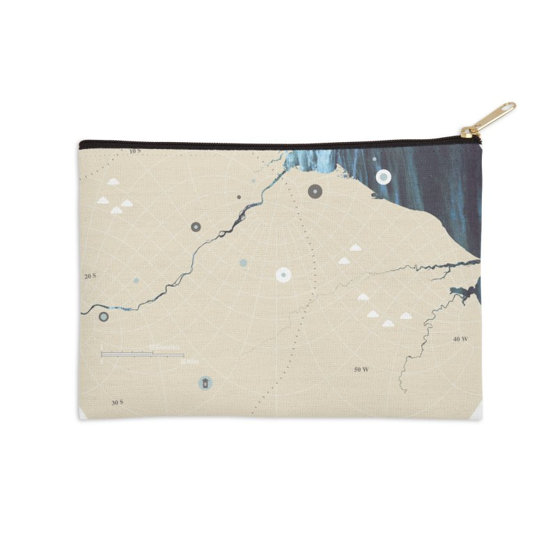 You Are Here Accessories Zip Pouch by Prate