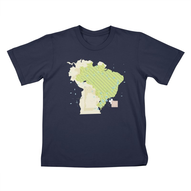 Brazil_11 Kids T-Shirt by Prate