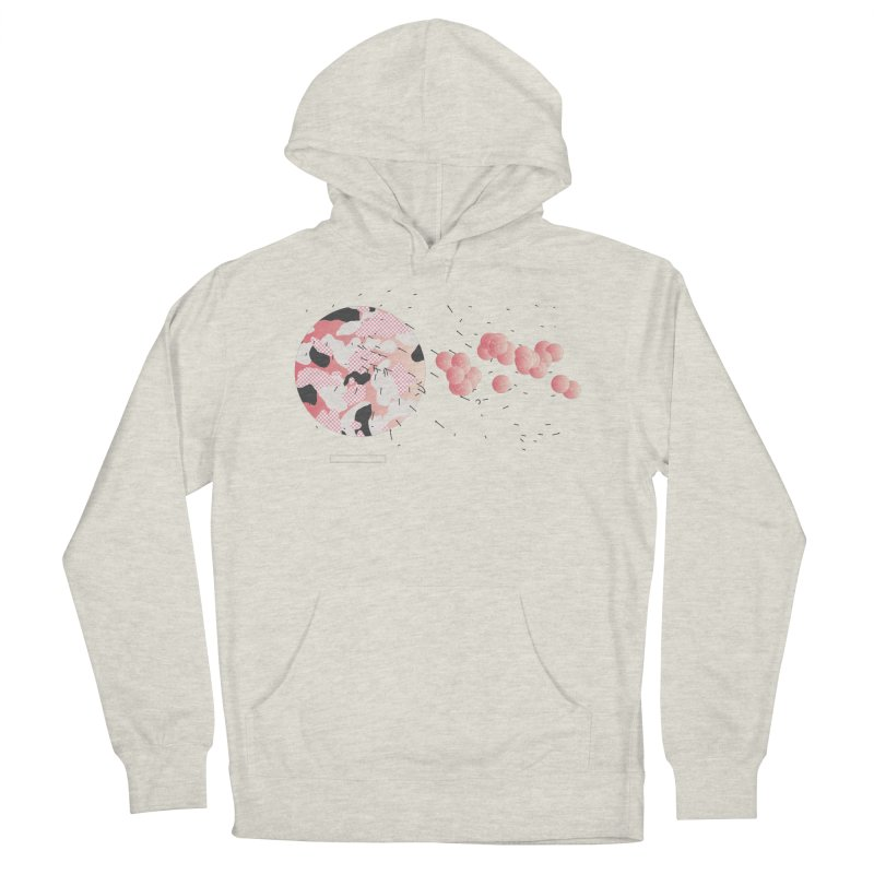 Pattern Pink Men's French Terry Pullover Hoody by Prate