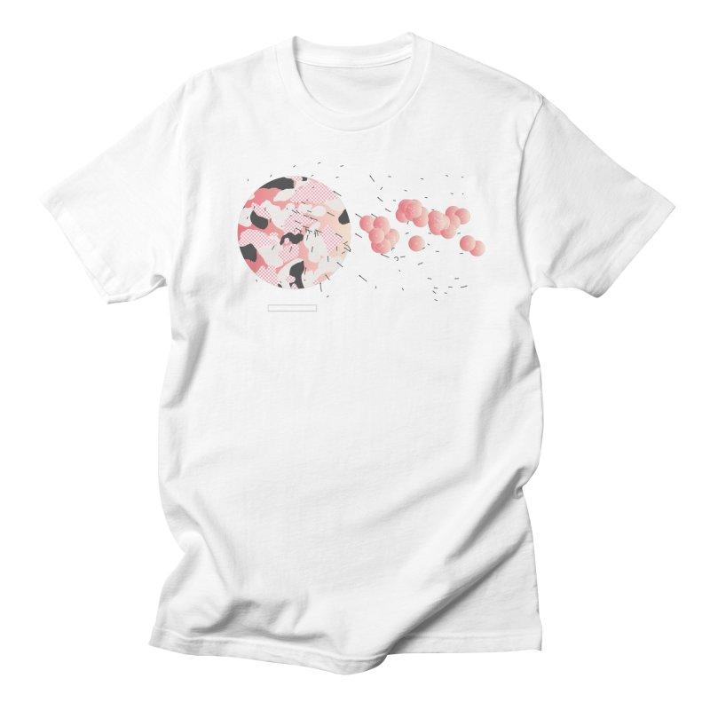 Pattern Pink Men's Regular T-Shirt by Prate