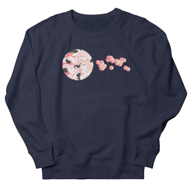 Pattern Pink Women's French Terry Sweatshirt by Prate