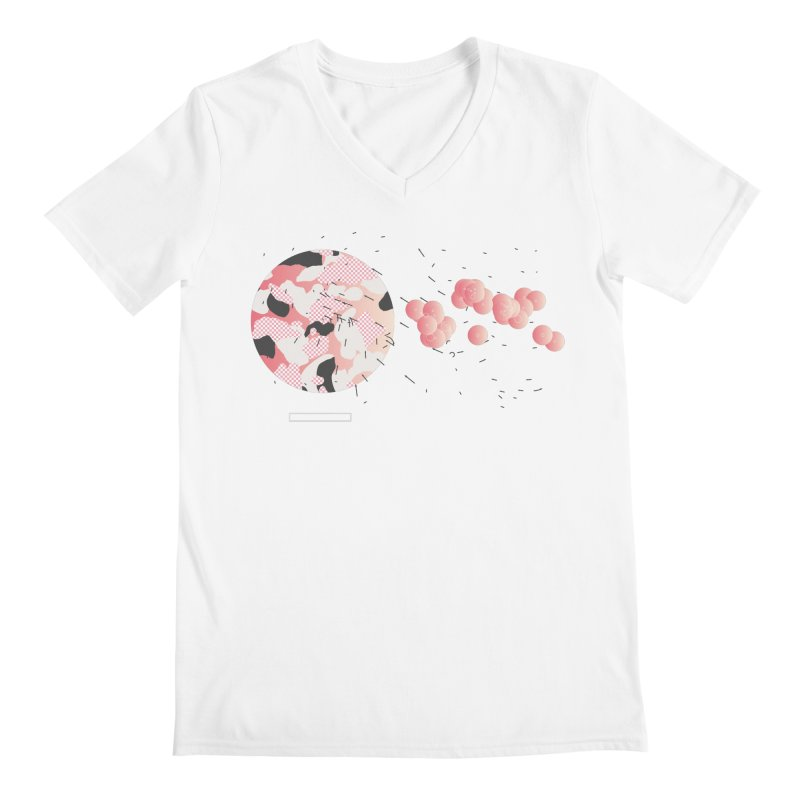 Pattern Pink Men's V-Neck by Prate