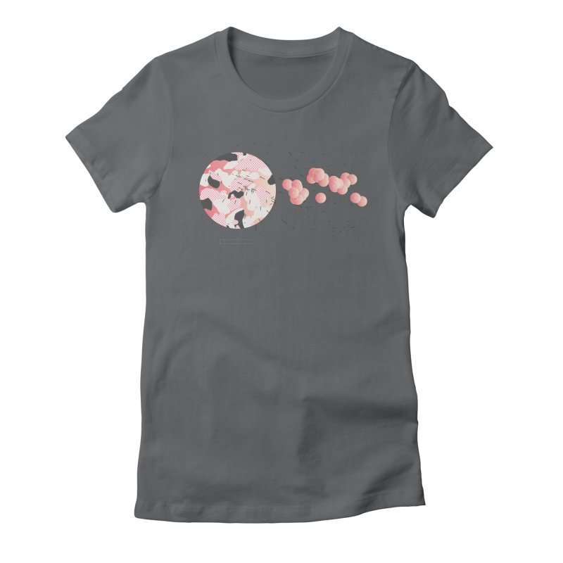 Pattern Pink Women's Fitted T-Shirt by Prate