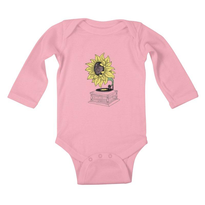 Singing in the sun Kids Baby Longsleeve Bodysuit by prawidana's Artist Shop