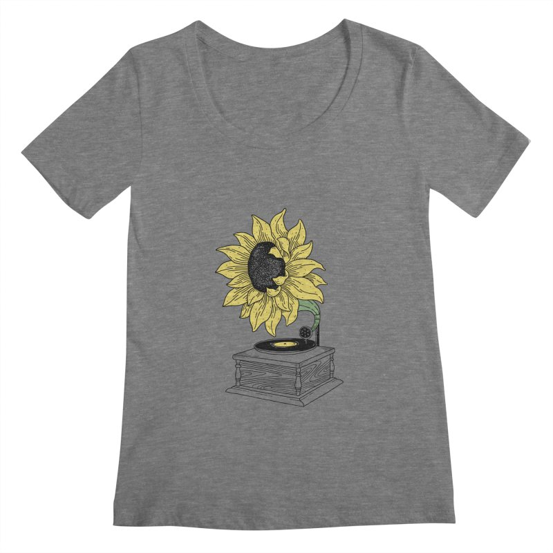 Singing in the sun Women's Scoopneck by prawidana's Artist Shop
