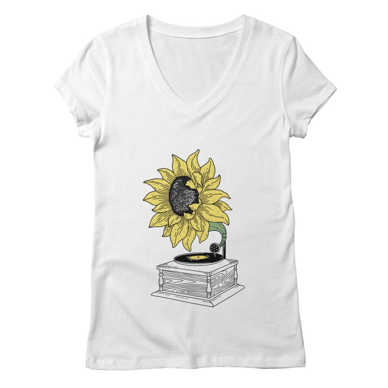 Singing in the sun Women's V-Neck by prawidana's Artist Shop