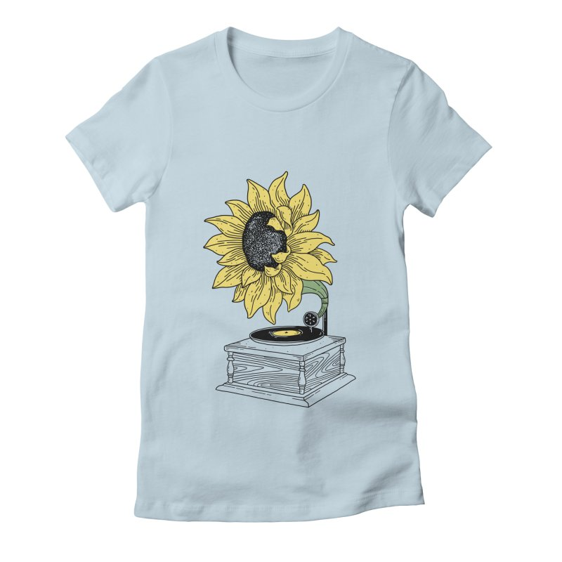 Singing in the sun Women's Fitted T-Shirt by prawidana's Artist Shop