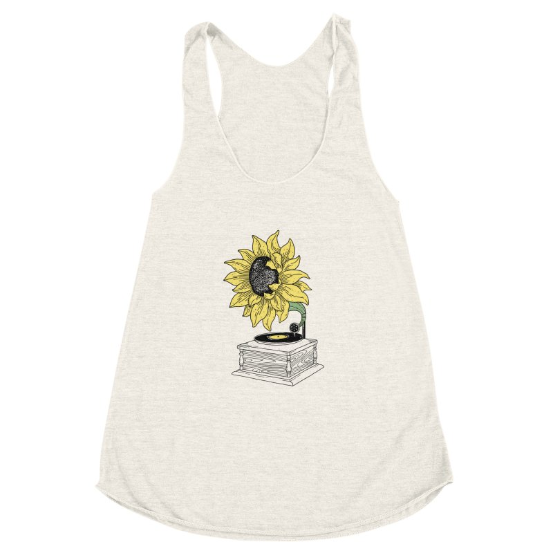 Singing in the sun Women's Racerback Triblend Tank by prawidana's Artist Shop