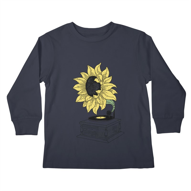 Singing in the sun Kids Longsleeve T-Shirt by prawidana's Artist Shop