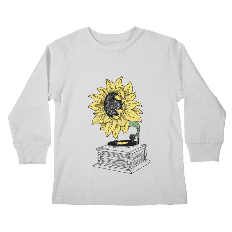 Singing in the sun Kids Longsleeve T-Shirt by prawidana's Artist Shop