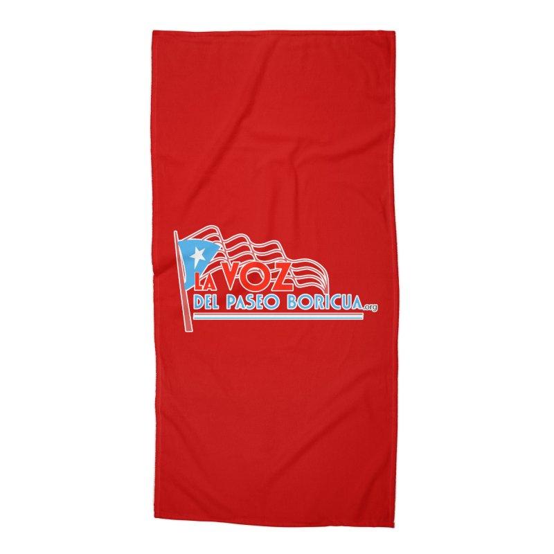 La Voz Del Paseo Boricua Accessories Beach Towel by PRCC Tiendita